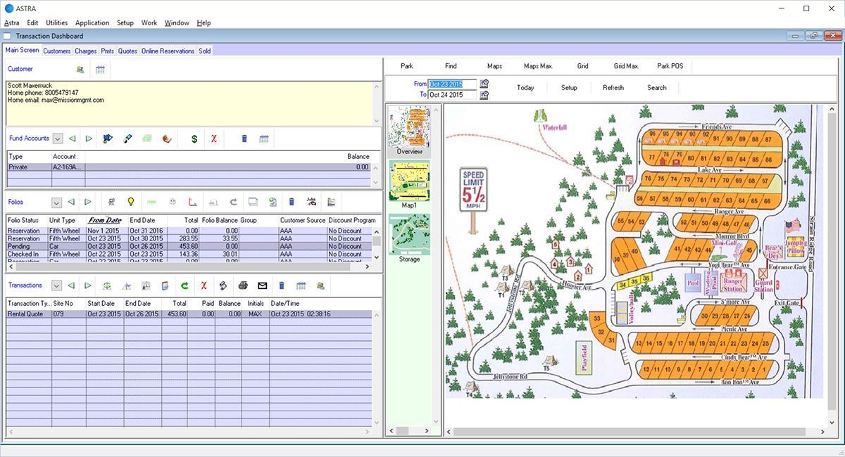 integrated grid map astra software