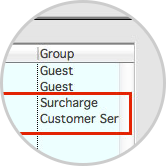 Add the charges you wish to associate with the site rate.