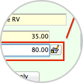 Use the pencil feature to override the predetermined rate.