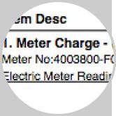 Sample utility invoice (basic)