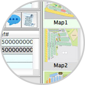 Map with customer transaction view combined
